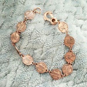 Mini penny copper bracelet